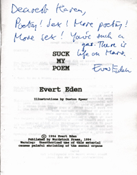Autograph collection evert eden for Poetry chapbook template